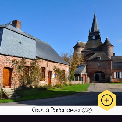 Ciruit à Parfondeval, village de France