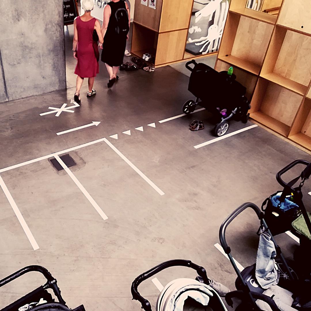 Parking à poussettes au Danemark